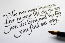 Самый красивый почерк в мире