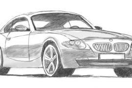 Как нарисовать машину – пошаговая инструкция