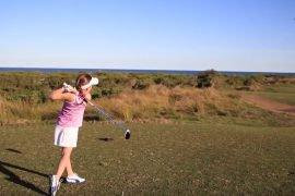Девочка сбила квадрокоптер мячиком для гольфа