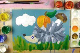 Как нарисовать ежика – простые уроки рисования