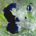 Большое озеро в Азии, которое называют морем
