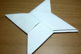 Как сделать сюрикен из бумаги?