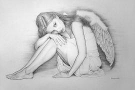 Как нарисовать ангела поэтапно
